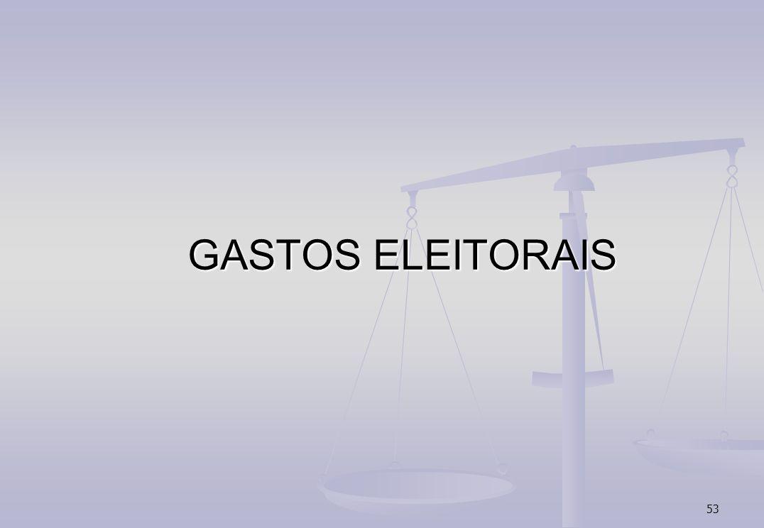 53 GASTOS ELEITORAIS