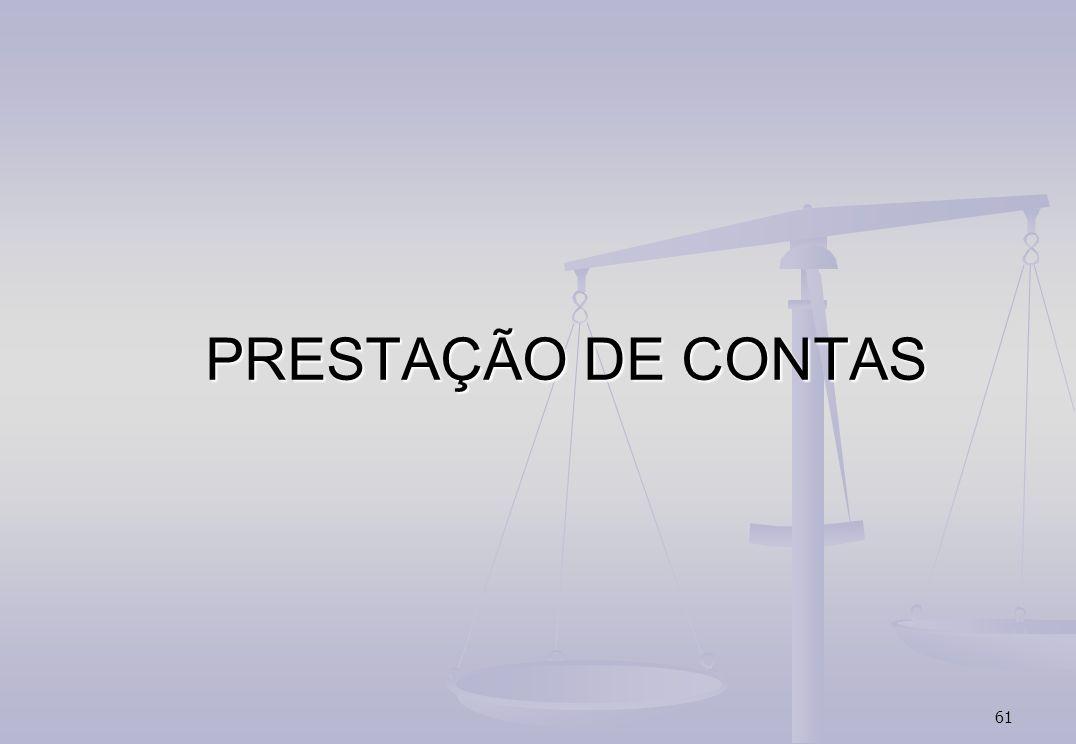 61 PRESTAÇÃO DE CONTAS