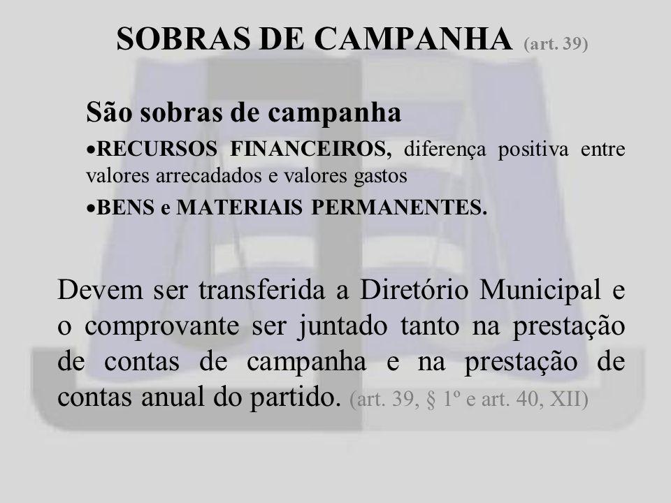 SOBRAS DE CAMPANHA (art.