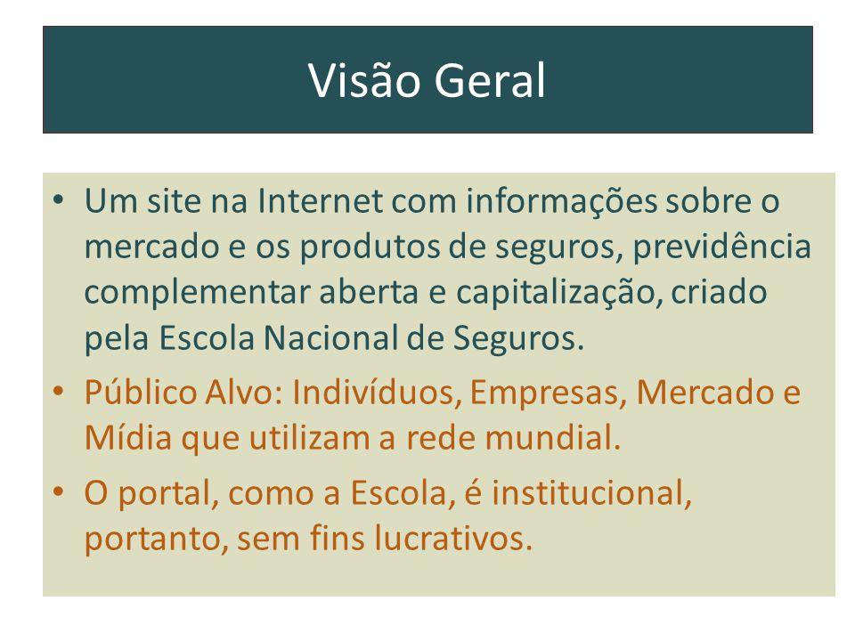 Visão Geral Um site na Internet com informações sobre o mercado e os produtos de seguros, previdência complementar aberta e capitalização, criado pela