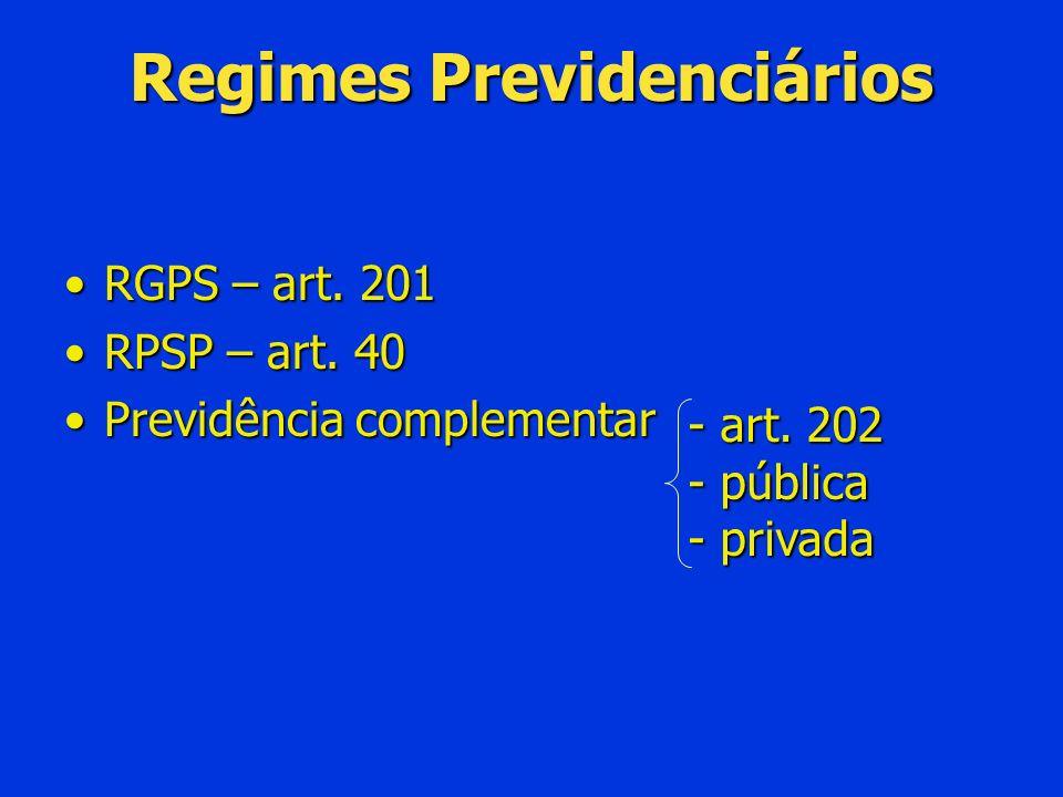 Disciplina infralegal – ON 03/2004 Índice: se não definido será o mesmo utilizado no RGPSÍndice: se não definido será o mesmo utilizado no RGPS Art.