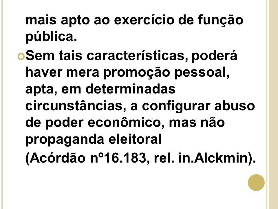 O PODER DE POLÍCIA NA PROPAGANDA ELEITORAL No art.
