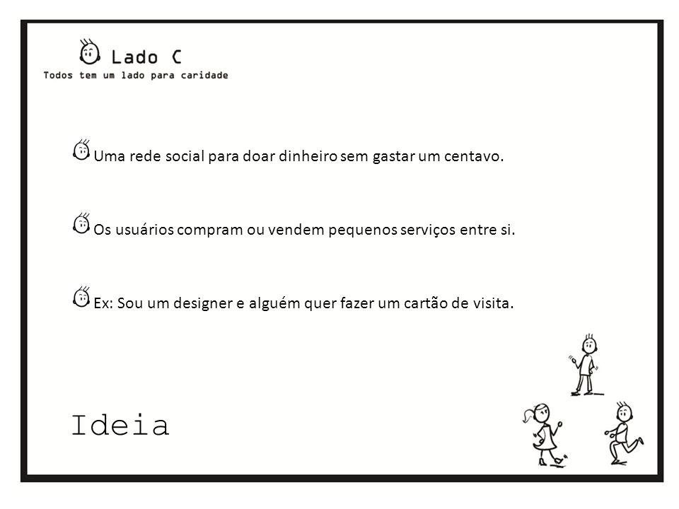 Ideia Uma rede social para doar dinheiro sem gastar um centavo.