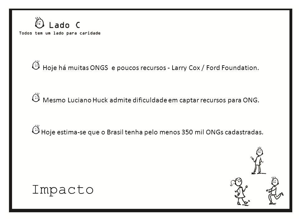 Impacto Hoje há muitas ONGS e poucos recursos - Larry Cox / Ford Foundation.
