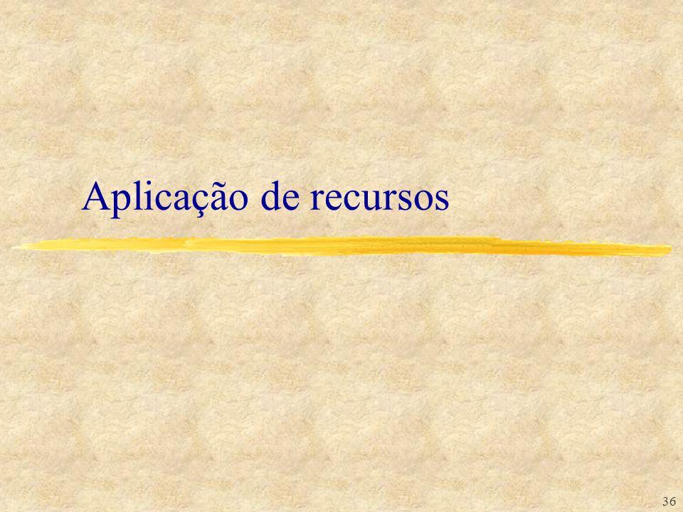 36 Aplicação de recursos