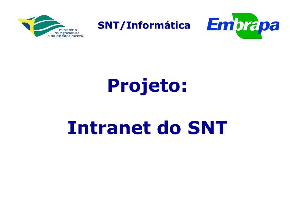 SNT/Informática Projeto: Intranet do SNT