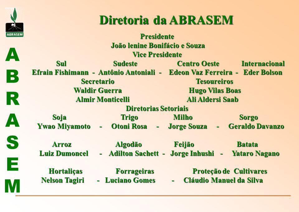 ABRASEMABRASEM Diretoria da ABRASEM Presidente João lenine Bonifácio e Souza João lenine Bonifácio e Souza Vice Presidente Sul Sudeste Centro Oeste In
