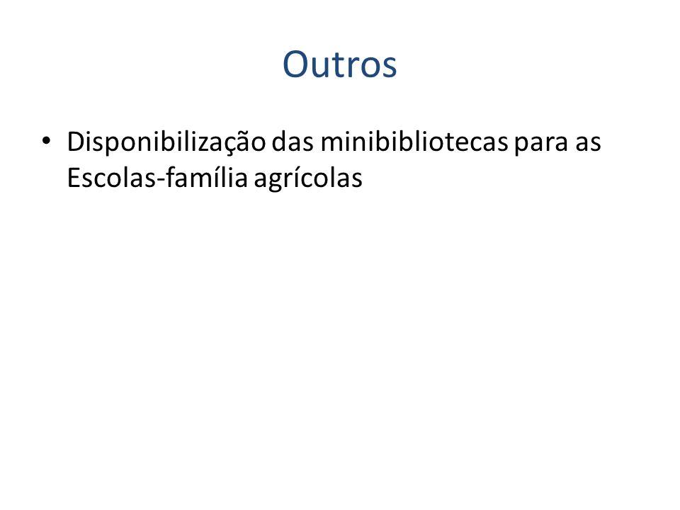 Outros Disponibilização das minibibliotecas para as Escolas-família agrícolas