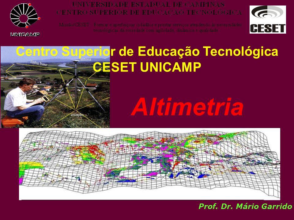 Centro Superior de Educação Tecnológica CESET UNICAMP Prof. Dr. Mário Garrido Altimetria