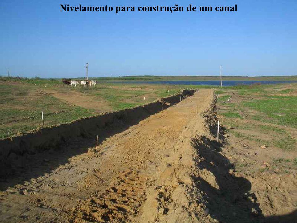 Nivelamento para construção de um canal