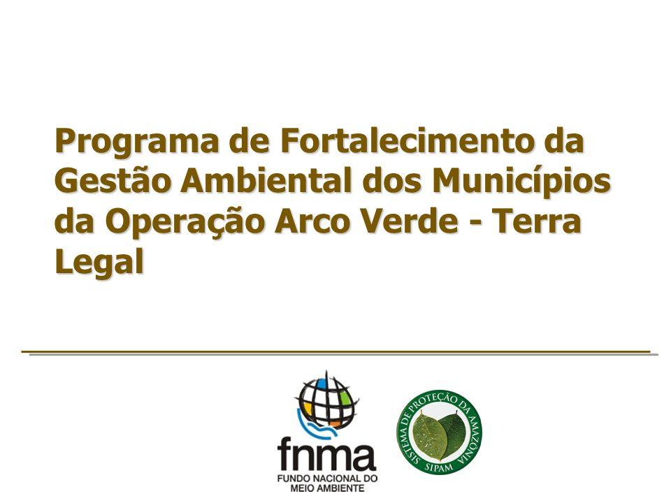 Fomento: MMA por meio do FNMA Parceria Institucional Secretaria Executiva do MMA Fundo Nacional do Meio Ambiente (FNMA) Departamento de Políticas para o Combate ao Desmatamento (DPCD) Departamento de Coordenação do SISNAMA Secretarias do MMA Secretaria de Extrativismo e Desenvolvimento Rural Sustentável (SEDRS) Secretaria de Articulação Institucional e Cidadania Ambiental (SAIC) Secretaria de Recursos Hídrico e M.A.