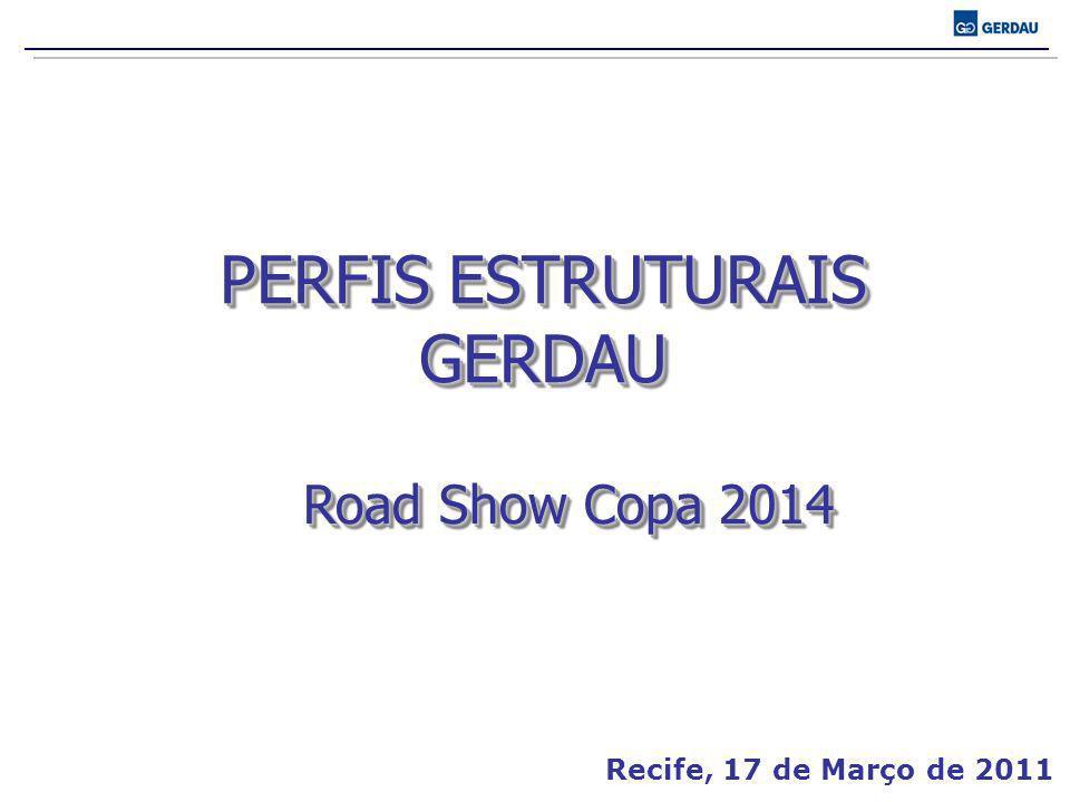 PERFIS ESTRUTURAIS GERDAU Road Show Copa 2014 Recife, 17 de Março de 2011