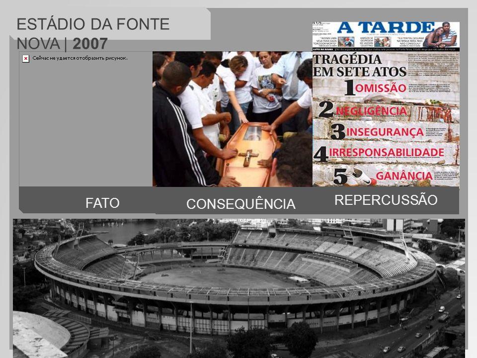 FATO CONSEQUÊNCIA ESTÁDIO DA FONTE NOVA | 2007 REPERCUSSÃO