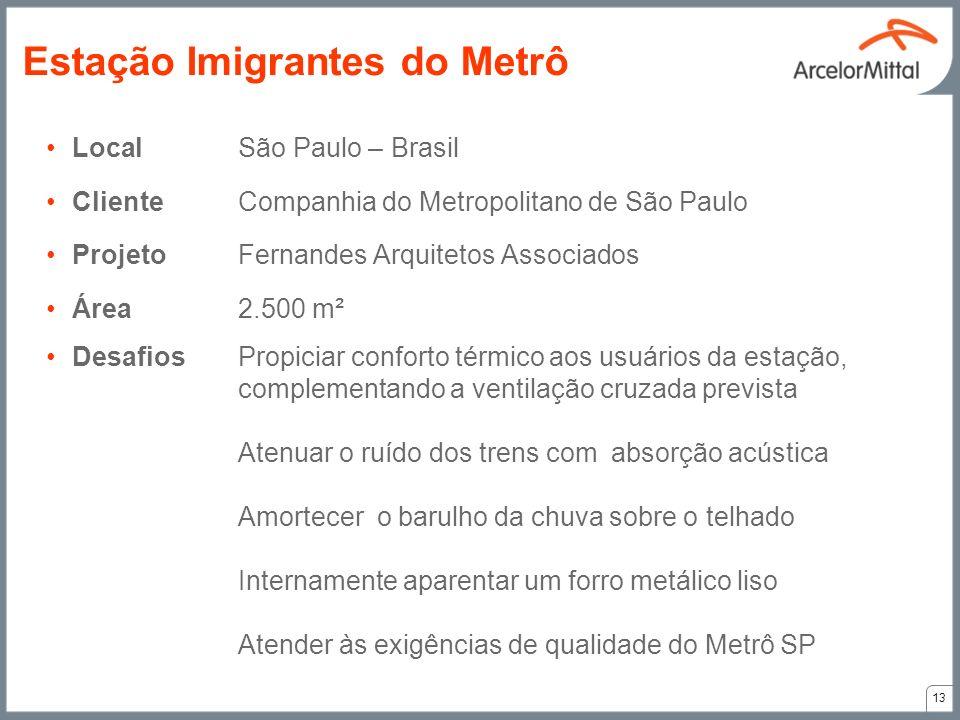 LocalSão Paulo – Brasil ClienteCompanhia do Metropolitano de São Paulo ProjetoFernandes Arquitetos Associados Área2.500 m² DesafiosPropiciar conforto