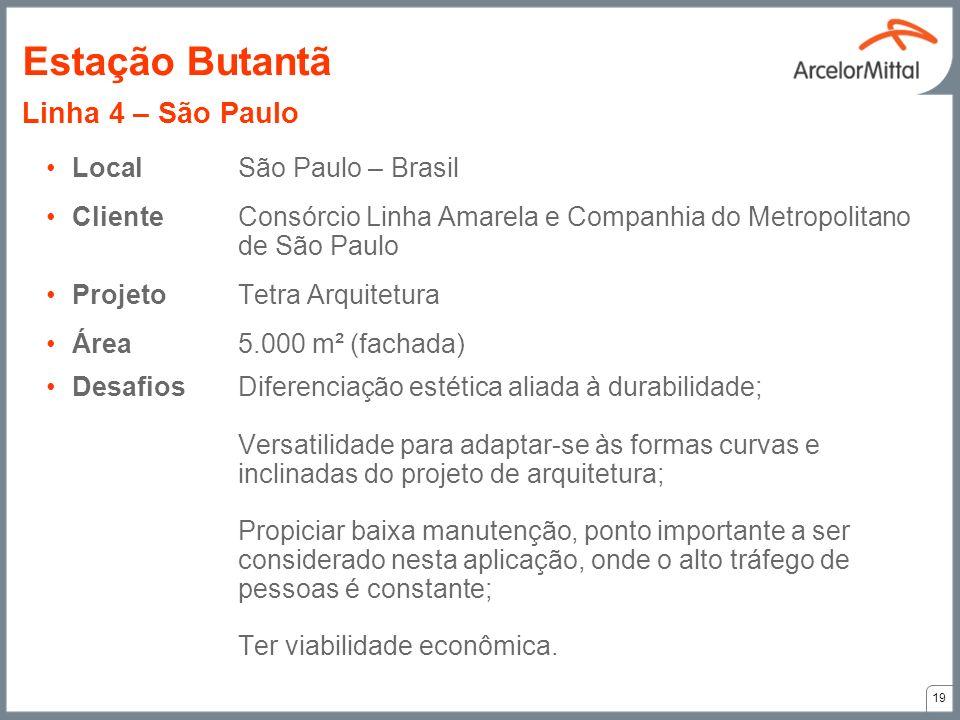 LocalSão Paulo – Brasil ClienteConsórcio Linha Amarela e Companhia do Metropolitano de São Paulo ProjetoTetra Arquitetura Área5.000 m² (fachada) Desaf