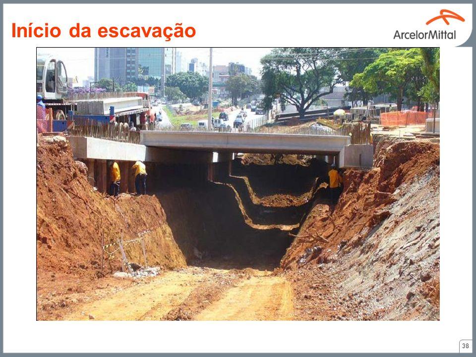 38 Início da escavação
