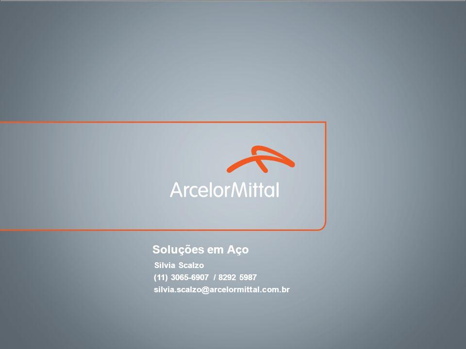 Soluções em Aço Sílvia Scalzo (11) 3065-6907 / 8292 5987 silvia.scalzo@arcelormittal.com.br