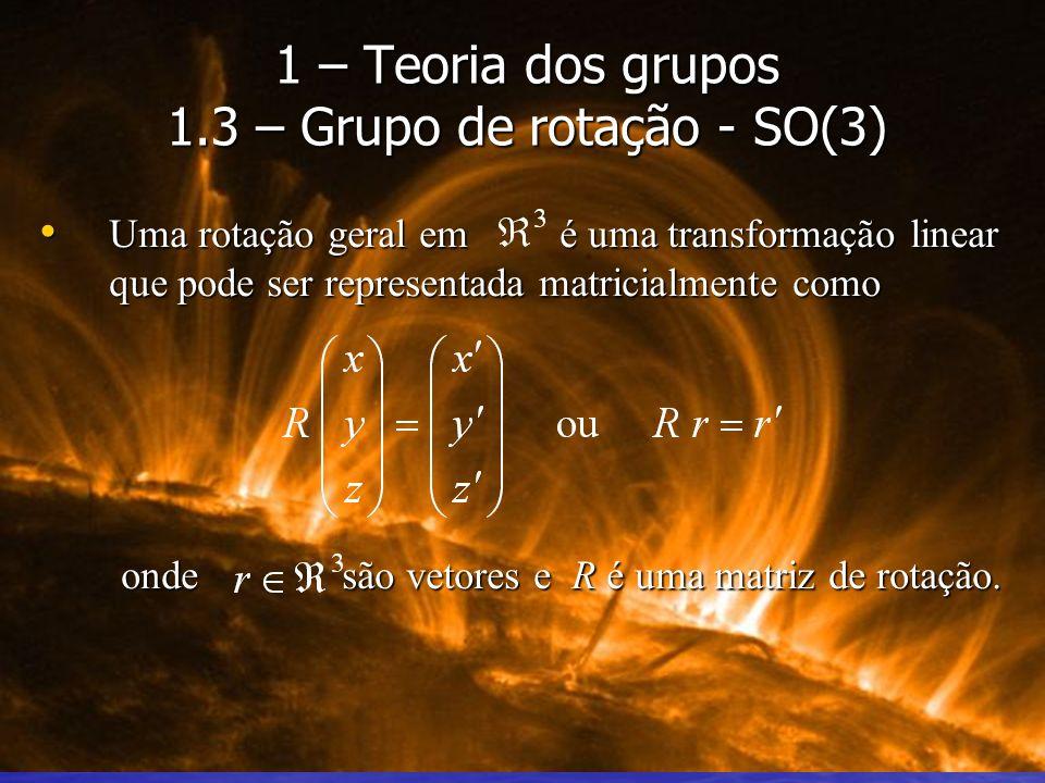 Uma rotação geral em é uma transformação linear que pode ser representada matricialmente como Uma rotação geral em é uma transformação linear que pode
