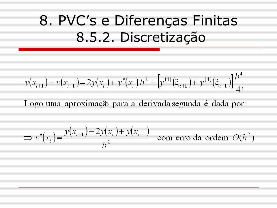 8. PVCs e Diferenças Finitas 8.5.2. Discretização