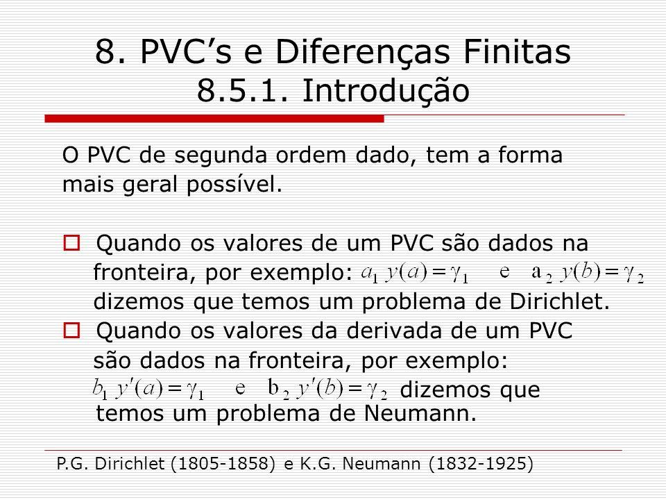 8.PVCs e Diferenças Finitas 8.5.1.
