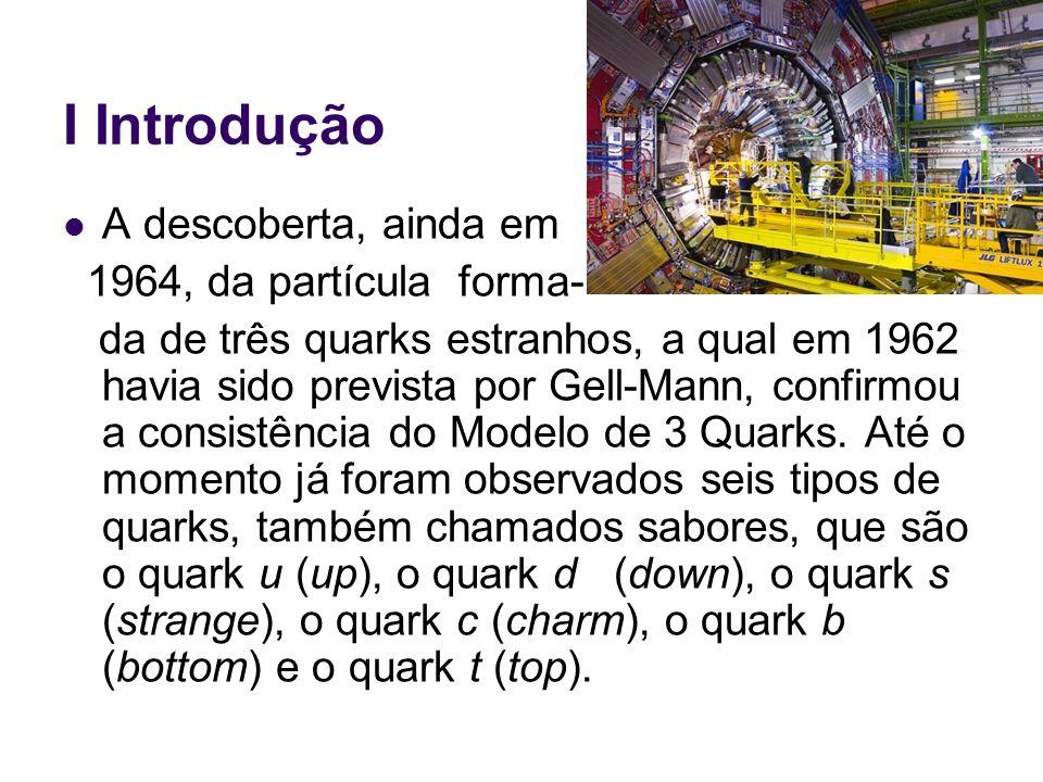 II Modelo de Quarks Os quarks, assim como os elétrons, possuem um spin intrínseco igual a.