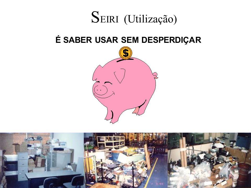 S EIRI (Utilização) É SABER USAR SEM DESPERDIÇAR