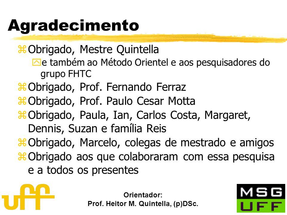 Orientador: Prof. Heitor M. Quintella, (p)DSc. Agradecimento zObrigado, Mestre Quintella ye também ao Método Orientel e aos pesquisadores do grupo FHT