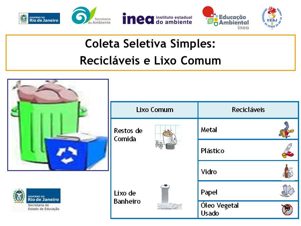 Coleta Seletiva Simples: Recicláveis e Lixo Comum