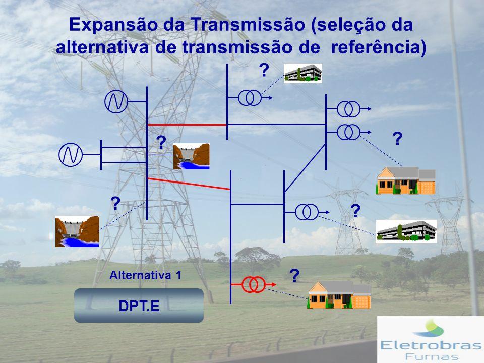 Expansão da Transmissão (seleção da alternativa de transmissão de referência) Alternativa 1 .