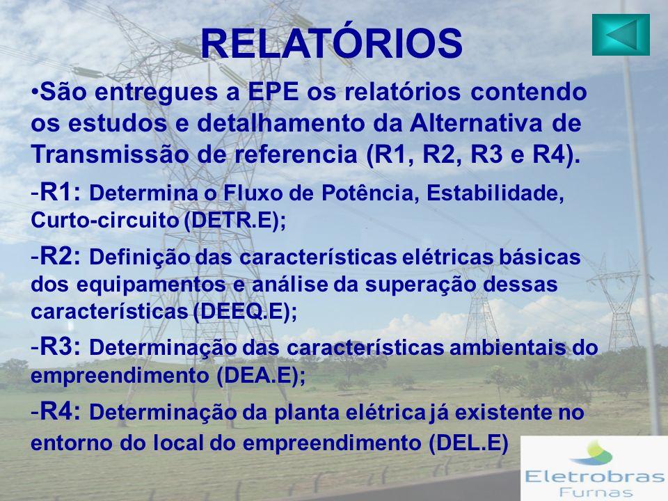 São entregues a EPE os relatórios contendo os estudos e detalhamento da Alternativa de Transmissão de referencia (R1, R2, R3 e R4).