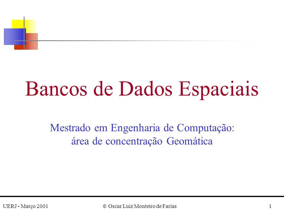 UERJ - Março 2001© Oscar Luiz Monteiro de Farias2 Robert Laurini and Derek Thompson.