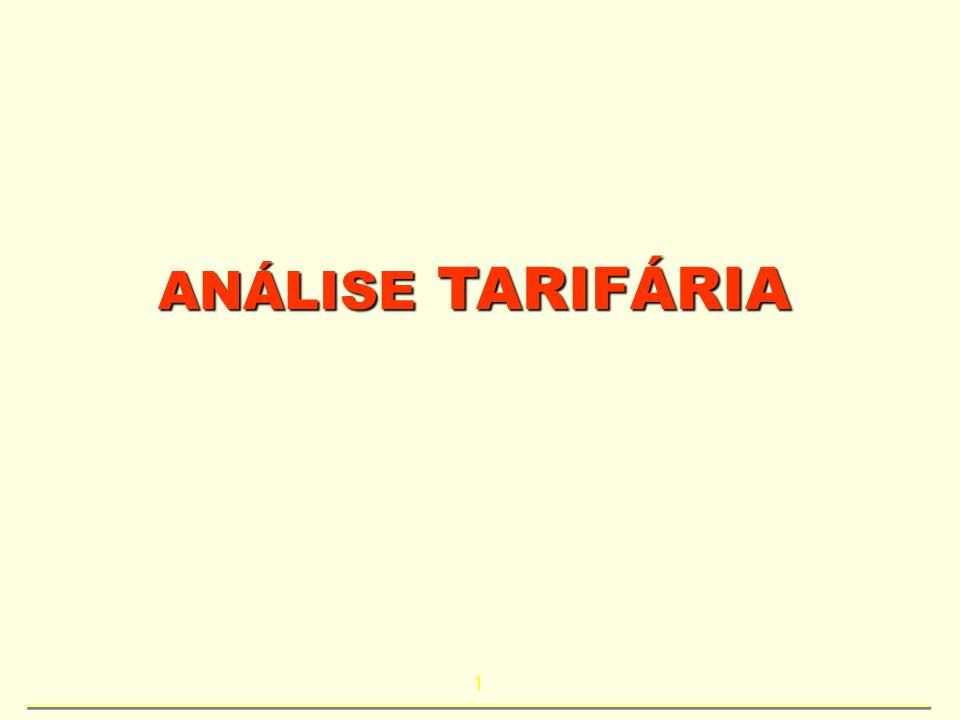 1 ANÁLISE TARIFÁRIA