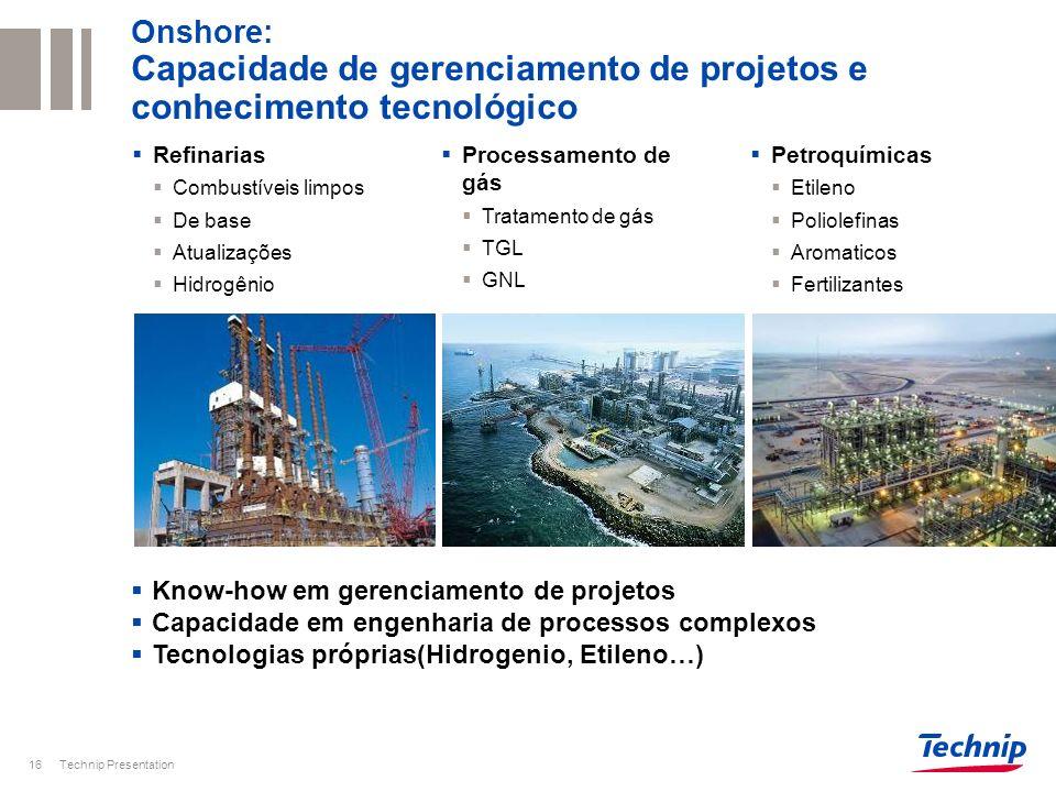 Technip Presentation17 Pazflor (Angola) IPB Papa Terra (Brazil) Islay ETH-PHP (Mar do Norte) Agbami (Nigeria) Cascade & Chinook (Golfo do Mexico) Qatargas 2, 3 and 4, Rasgas III (Qatar) Yemen LNG Shtokhman (Russia) FLNG (Shell, Petrobras, Petronas) Avanços Estratégicos Shuaiba (Kuwait): Olefins II Project: Unidade de etileno Ras Laffan (Qatar): steamcracker Yanbu (Saudi Arabia): steamcracker Dung Quat (Vietnam): Refinaria Horizon (Canada): Unidade de Coqueamento e Hidrogenio Jubail export Refinaria (Arabia Saudita) Perdido Spar (USA) Akpo FPSO (Nigeria) P-56 semisub (Brazil) Em águas Profundas Instalações offshore Em águas profundas Gás natural Liquifeito (GNL) Refino de óleos pesados Etileno