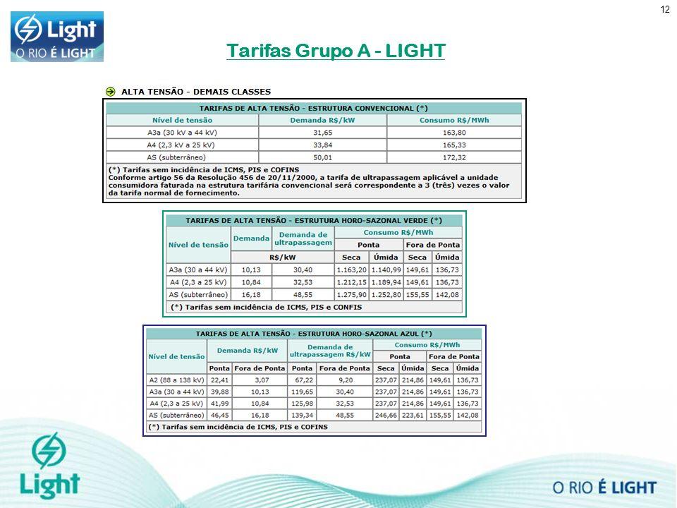 12 Tarifas Grupo A - LIGHT
