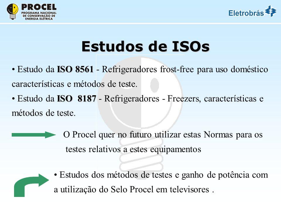 Estudos de ISOs ISO 8561 Estudo da ISO 8561 - Refrigeradores frost-free para uso doméstico características e métodos de teste.