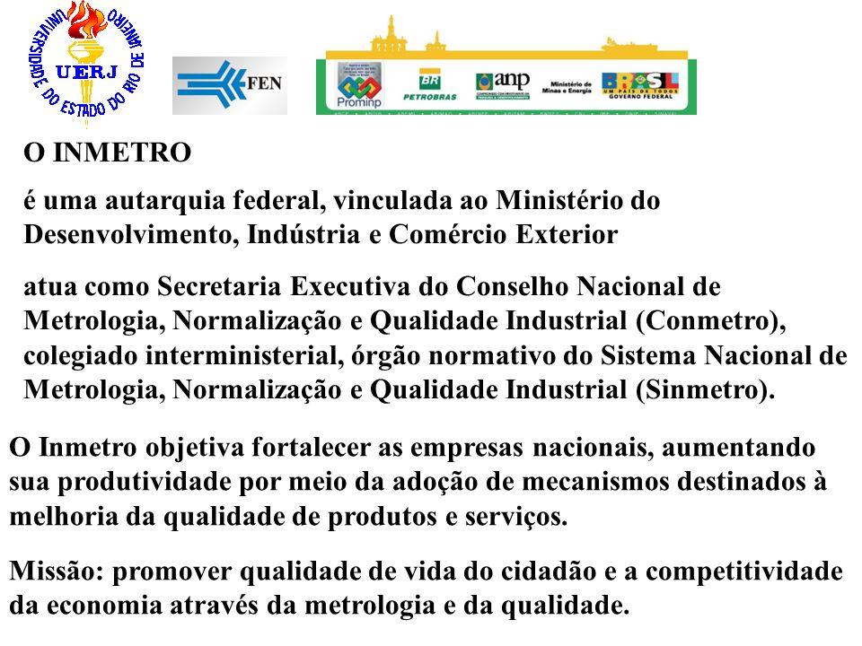 O INMETRO O Inmetro objetiva fortalecer as empresas nacionais, aumentando sua produtividade por meio da adoção de mecanismos destinados à melhoria da