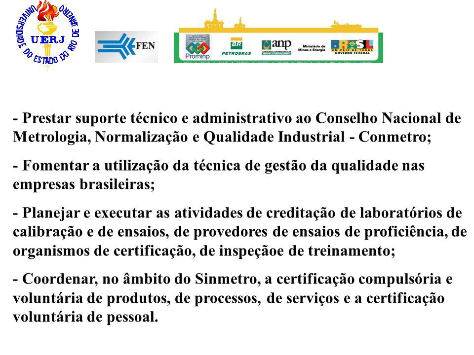 - Prestar suporte técnico e administrativo ao Conselho Nacional de Metrologia, Normalização e Qualidade Industrial - Conmetro; - Fomentar a utilização