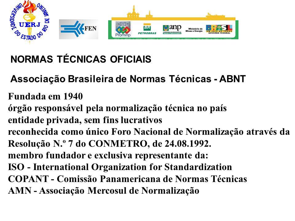 Associação Brasileira de Normas Técnicas - ABNT Fundada em 1940 órgão responsável pela normalização técnica no país entidade privada, sem fins lucrati