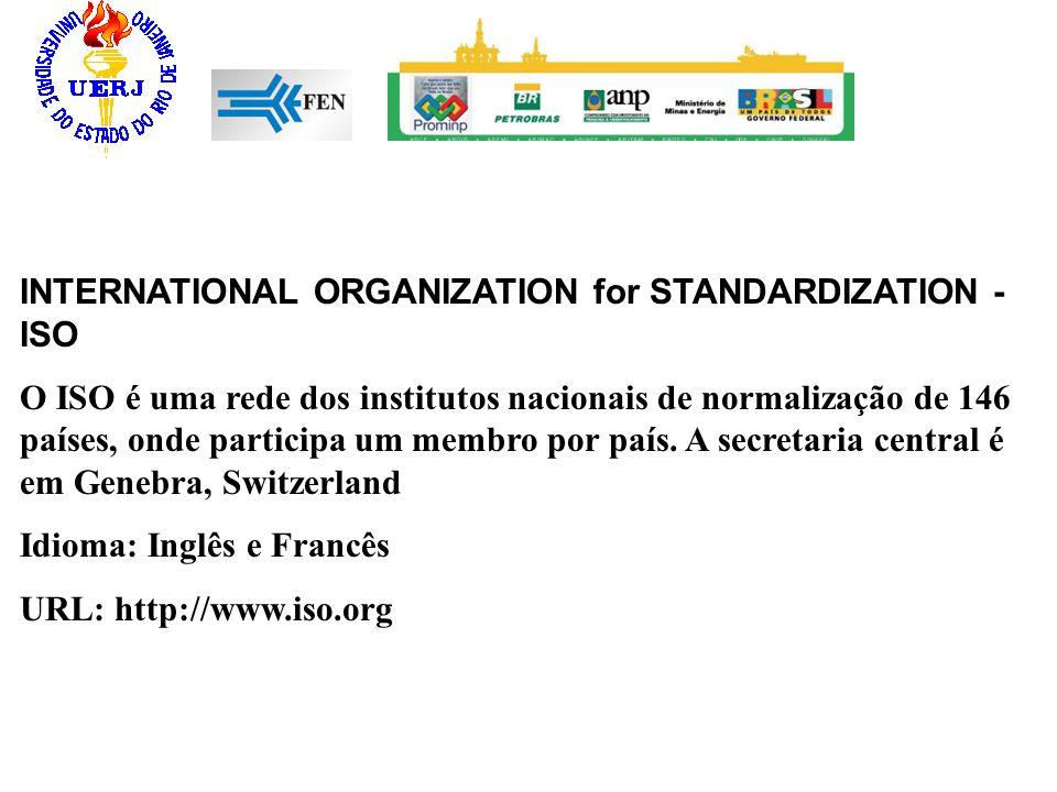 INTERNATIONAL ORGANIZATION for STANDARDIZATION - ISO O ISO é uma rede dos institutos nacionais de normalização de 146 países, onde participa um membro