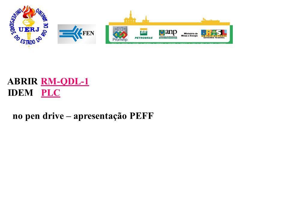 ABRIR RM-QDL-1RM-QDL-1 IDEM PLCPLC no pen drive – apresentação PEFF