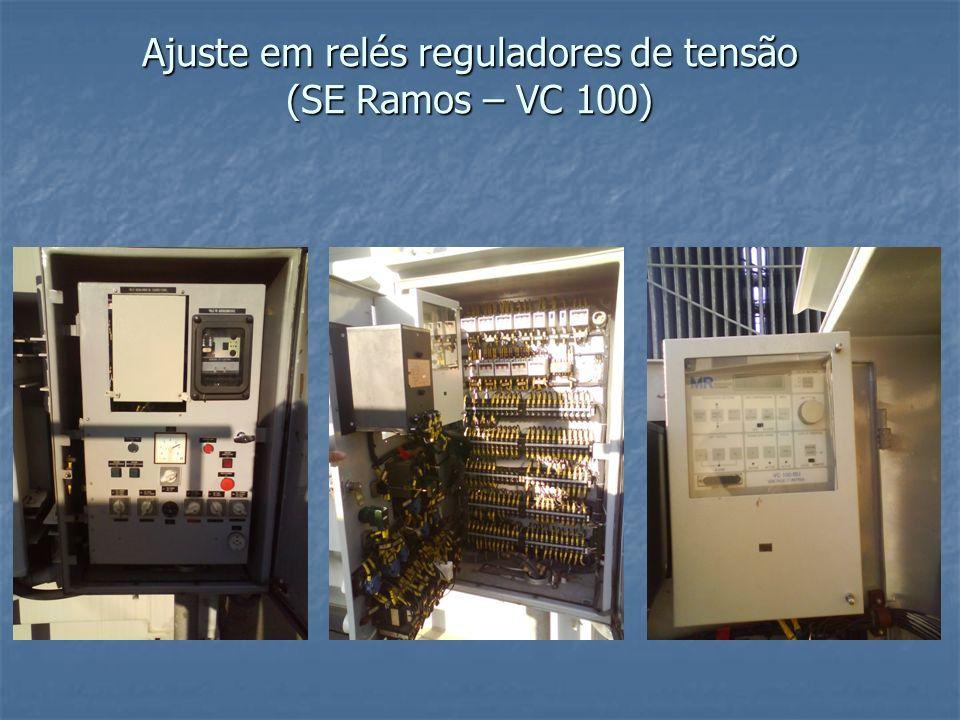 Ajuste em relés reguladores de tensão (SE Ramos – VC 100)