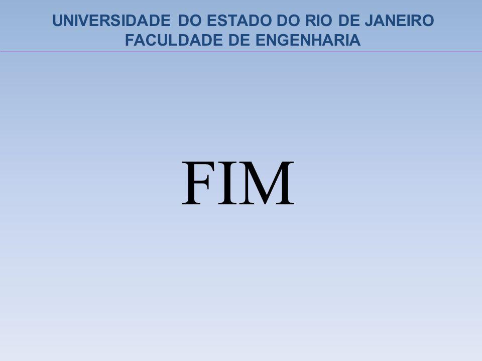 FIM UNIVERSIDADE DO ESTADO DO RIO DE JANEIRO FACULDADE DE ENGENHARIA