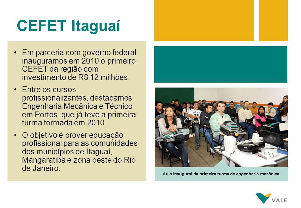 Em parceria com governo federal inauguramos em 2010 o primeiro CEFET da região com investimento de R$ 12 milhões. Entre os cursos profissionalizantes,