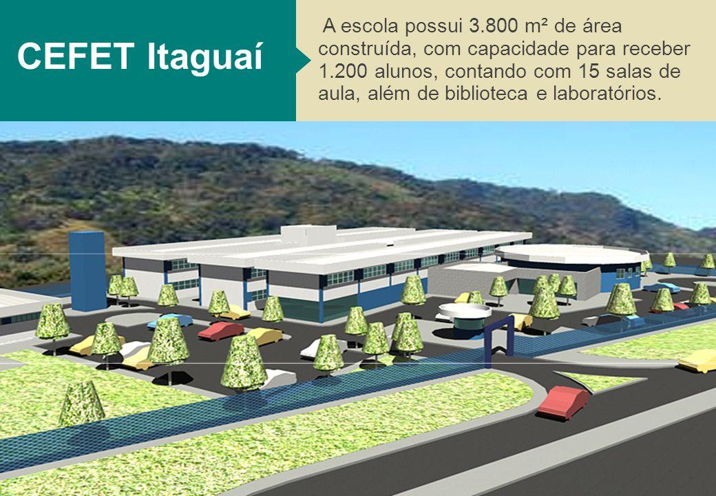 20 A escola possui 3.800 m² de área construída, com capacidade para receber 1.200 alunos, contando com 15 salas de aula, além de biblioteca e laboratórios.