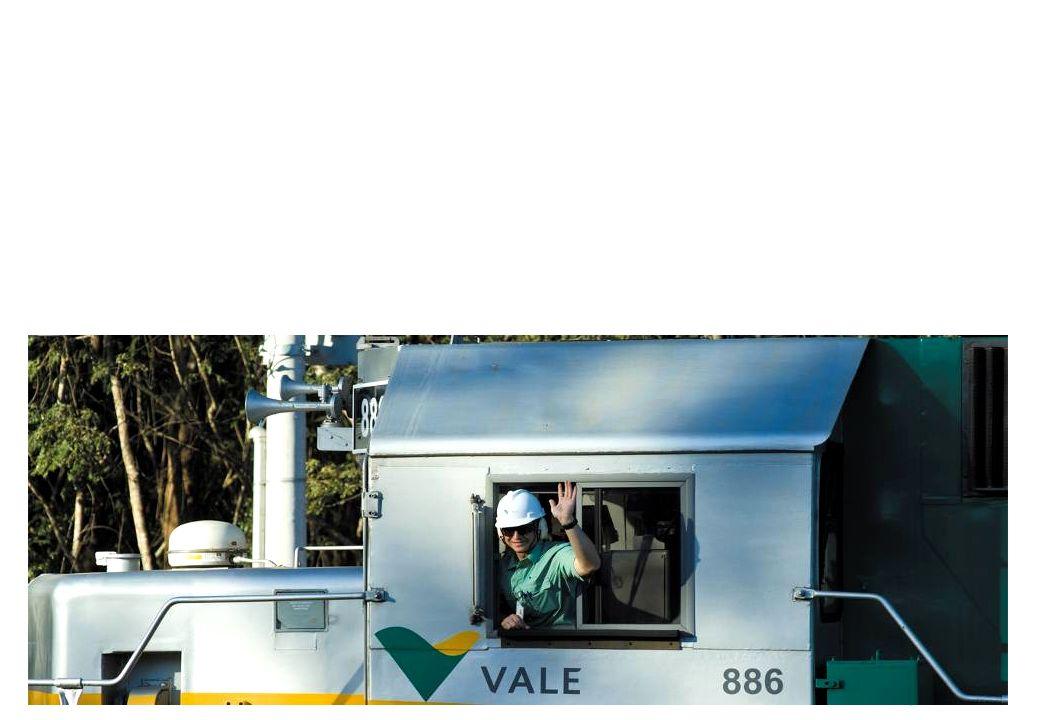 Somos líder na produção de minério de ferro e pelotas.