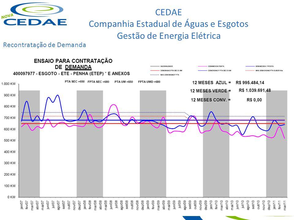 CEDAE Companhia Estadual de Águas e Esgotos Gestão de Energia Elétrica Recontratação de Demanda