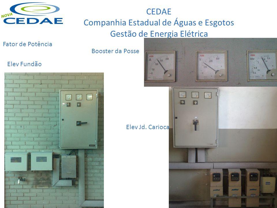 CEDAE Companhia Estadual de Águas e Esgotos Gestão de Energia Elétrica Fator de Potência Booster da Posse Elev Fundão Elev Jd. Carioca