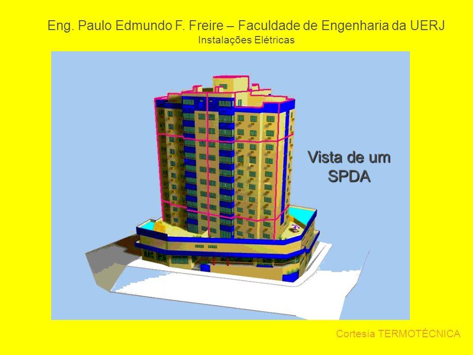Cortesia TERMOTÉCNICA Eng. Paulo Edmundo F. Freire – Faculdade de Engenharia da UERJ Instalações Elétricas Vista de um SPDA