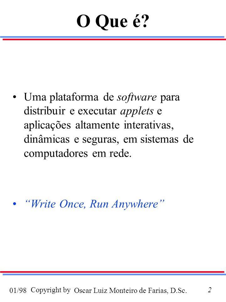 Oscar Luiz Monteiro de Farias, D.Sc.01/98 Copyright by2 O Que é.