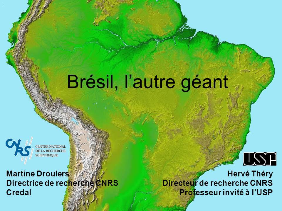 Hervé Théry Directeur de recherche CNRS Professeur invité à lUSP Brésil, lautre géant Martine Droulers Directrice de recherche CNRS Credal